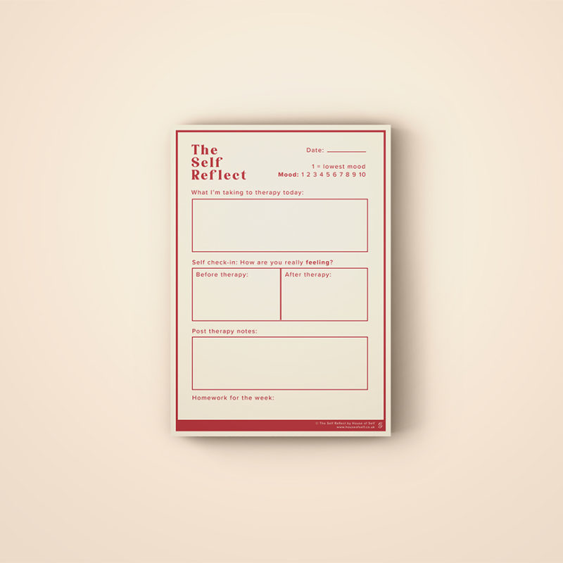 therapy notepad